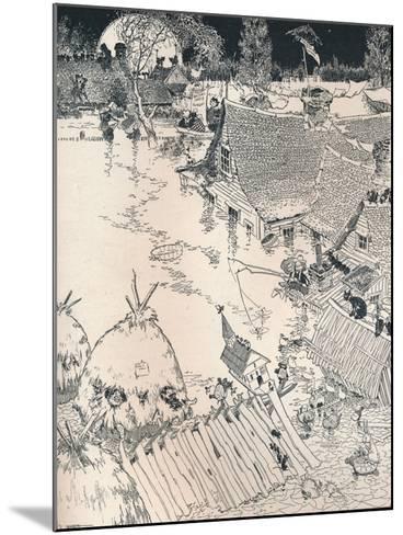 High Times on the Desplaines, C1890-Frederick Richardson-Mounted Giclee Print