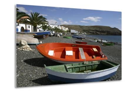 Fishing Boats, La Lajita, Fuerteventura, Canary Islands-Peter Thompson-Metal Print