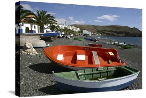 Fishing Boats, La Lajita, Fuerteventura, Canary Islands-Peter Thompson-Stretched Canvas Print