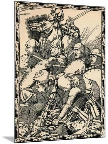 At the Battle of Agincourt, 1902-Patten Wilson-Mounted Giclee Print
