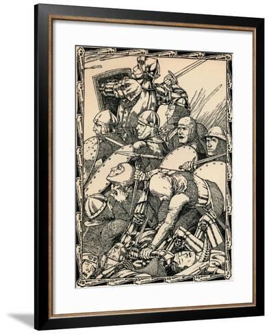 At the Battle of Agincourt, 1902-Patten Wilson-Framed Art Print
