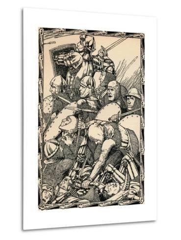 At the Battle of Agincourt, 1902-Patten Wilson-Metal Print