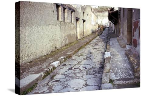 Paved Street in the Roman Town of Herculaneum, Italy-CM Dixon-Stretched Canvas Print