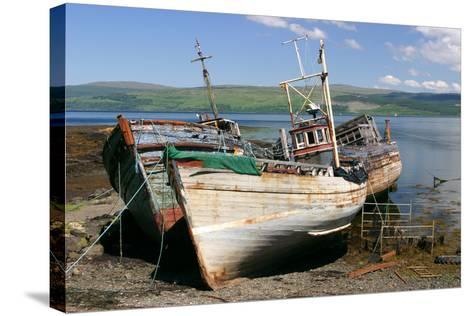 Old Fishing Boats, Near Salen, Mull, Argyll and Bute, Scotland-Peter Thompson-Stretched Canvas Print