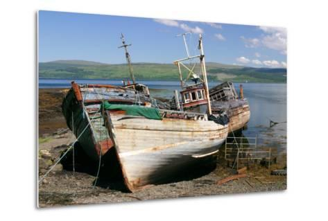 Old Fishing Boats, Near Salen, Mull, Argyll and Bute, Scotland-Peter Thompson-Metal Print