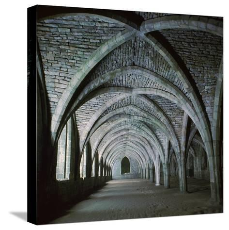 The Vaults in the Cellarium of Fountains Abbey, 12th Century-CM Dixon-Stretched Canvas Print