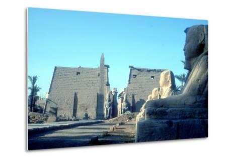 Temple Sacred to Amun Mut and Khons (Khonsu), Luxor, Egypt-CM Dixon-Metal Print