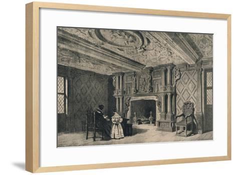 The Drawing-Room, Park Hall, Shropshire, 1915-CJ Richardson-Framed Art Print