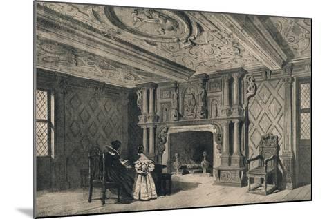 The Drawing-Room, Park Hall, Shropshire, 1915-CJ Richardson-Mounted Giclee Print