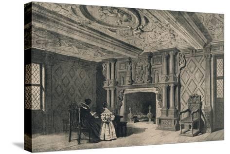 The Drawing-Room, Park Hall, Shropshire, 1915-CJ Richardson-Stretched Canvas Print
