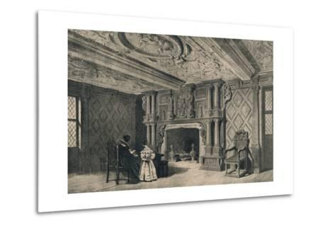 The Drawing-Room, Park Hall, Shropshire, 1915-CJ Richardson-Metal Print
