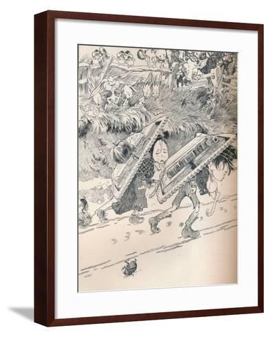When School Began as We Remembered, C1890-Frederick Richardson-Framed Art Print