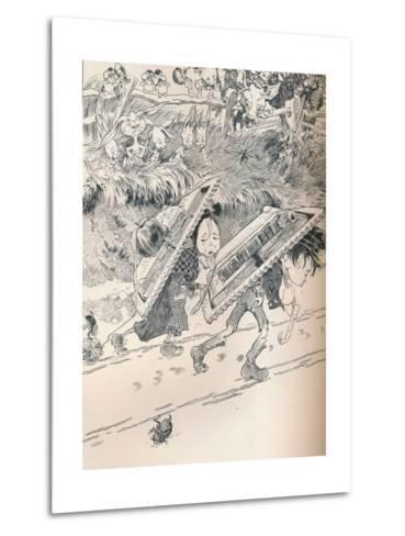 When School Began as We Remembered, C1890-Frederick Richardson-Metal Print