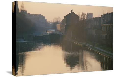 Regents Canal, London-Peter Thompson-Stretched Canvas Print
