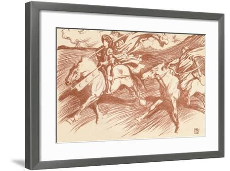 The Knight and His Companions, C1898-John Byam Liston Shaw-Framed Art Print