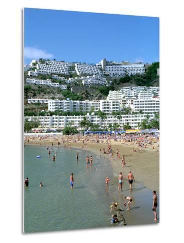 Beach, Puerto Rico, Gran Canaria, Canary Islands-Peter Thompson-Metal Print