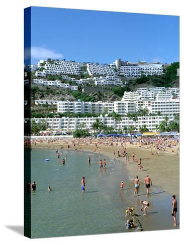 Beach, Puerto Rico, Gran Canaria, Canary Islands-Peter Thompson-Stretched Canvas Print