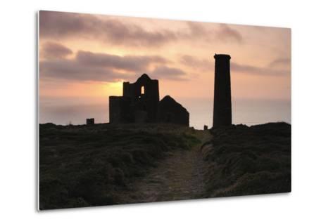 Sunset, Wheal Coates Tin Mine, St Agnes, Cornwall, 2009-Peter Thompson-Metal Print