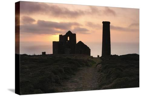 Sunset, Wheal Coates Tin Mine, St Agnes, Cornwall, 2009-Peter Thompson-Stretched Canvas Print