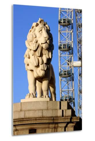 South Bank Lion, London-Peter Thompson-Metal Print