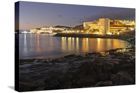 Looking Towards Patalavaca from Arguineguin, Gran Canaria, Canary Islands, Spain-Peter Thompson-Stretched Canvas Print