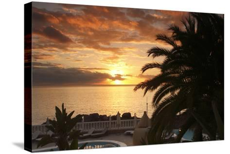 Sunset, Arguineguin, Gran Canaria, Canary Islands, Spain-Peter Thompson-Stretched Canvas Print
