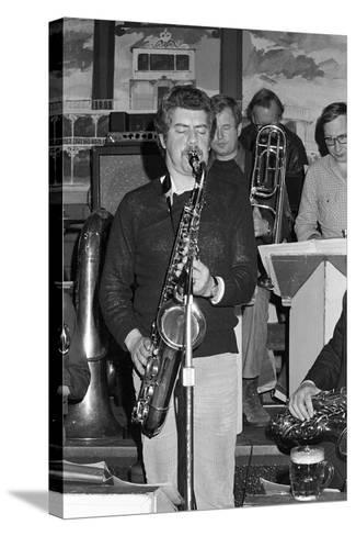 Dave Gelly, Lord Napier Thornton Heath, 1980-Brian O'Connor-Stretched Canvas Print