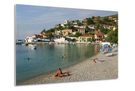 Beach, Assos, Kefalonia, Greece-Peter Thompson-Metal Print