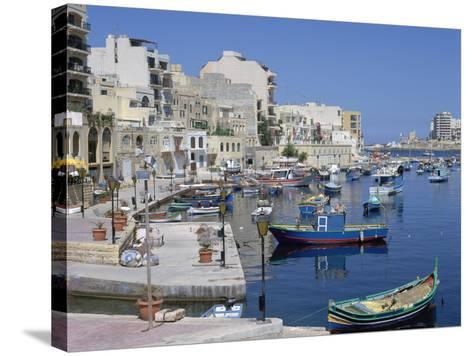 St Julians Bay, Malta-Peter Thompson-Stretched Canvas Print