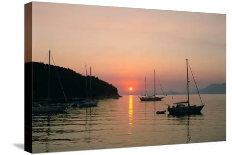 Sunset, Cavtat, Croatia-Peter Thompson-Stretched Canvas Print