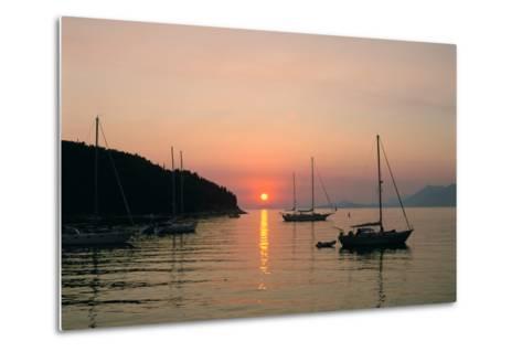 Sunset, Cavtat, Croatia-Peter Thompson-Metal Print