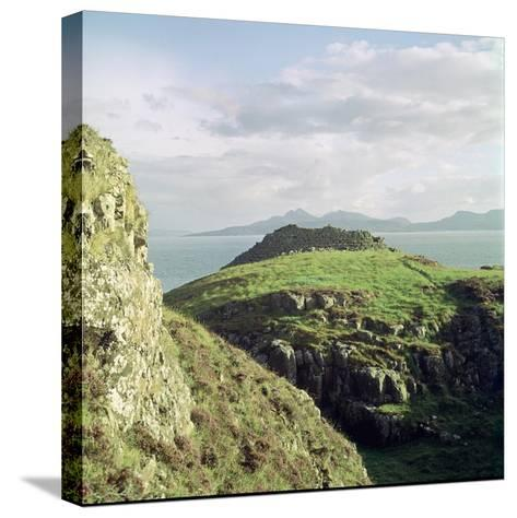 Ruadha a Dunain, a Promontory Fort on the Isle of Skye-CM Dixon-Stretched Canvas Print