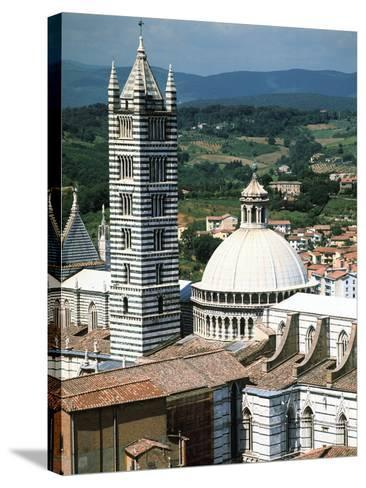 Panorama to Cathedral, Sienna, Tuscany, Italy-Peter Thompson-Stretched Canvas Print
