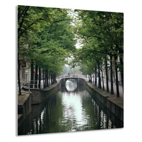 Canal in Oude, Delft-CM Dixon-Metal Print