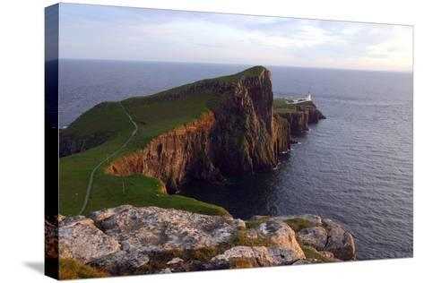 Neist Point Lighthouse, Isle of Skye, Highland, Scotland-Peter Thompson-Stretched Canvas Print
