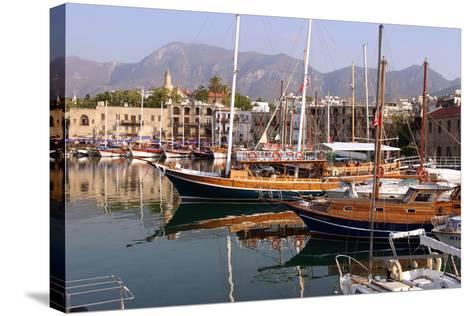 Harbour of Kyrenia (Girne), North Cyprus-Peter Thompson-Stretched Canvas Print