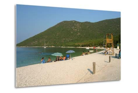 Antisamos (Captain Corellis Beach), Kefalonia, Greece-Peter Thompson-Metal Print