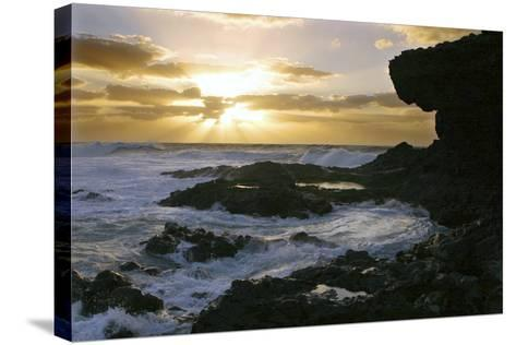 Seascape, Fuerteventura, Canary Islands-Peter Thompson-Stretched Canvas Print