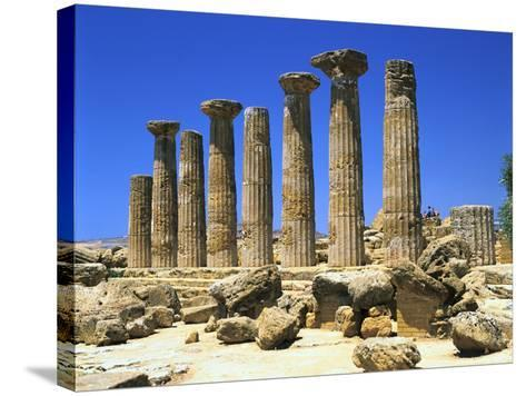 Temple of Hercules, Agrigento, Sicily, Italy-Peter Thompson-Stretched Canvas Print