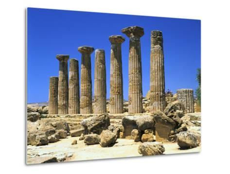 Temple of Hercules, Agrigento, Sicily, Italy-Peter Thompson-Metal Print