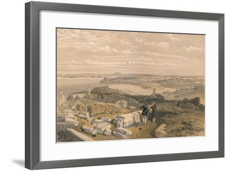 Sebastopol from Old Chersonese and Ancient Church of St Vladimir, 1856-William Simpson-Framed Art Print