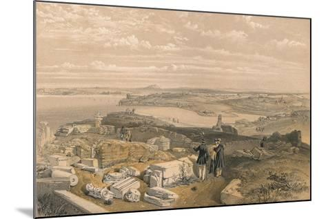 Sebastopol from Old Chersonese and Ancient Church of St Vladimir, 1856-William Simpson-Mounted Giclee Print