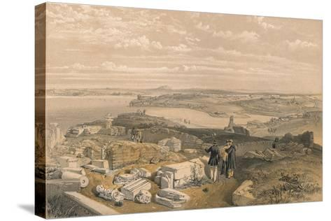 Sebastopol from Old Chersonese and Ancient Church of St Vladimir, 1856-William Simpson-Stretched Canvas Print