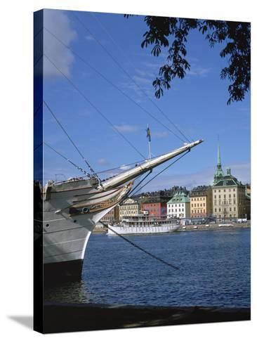 Af Chapman Sailing Ship (Youth Hostel), Stockholm, Sweden-Peter Thompson-Stretched Canvas Print