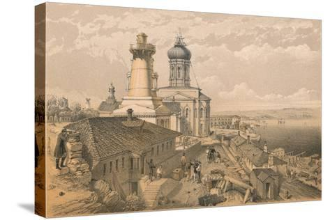 The Admiralty, Sebastopol, 1856-William Simpson-Stretched Canvas Print