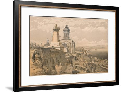 The Admiralty, Sebastopol, 1856-William Simpson-Framed Art Print