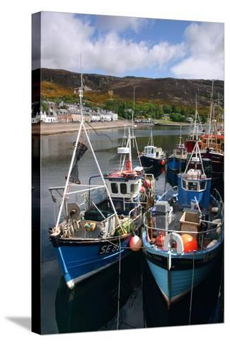 Fishing Boats, Ullapool Harbour, Highland, Scotland-Peter Thompson-Stretched Canvas Print