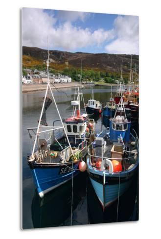 Fishing Boats, Ullapool Harbour, Highland, Scotland-Peter Thompson-Metal Print