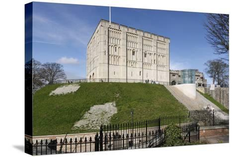 Norwich Castle, Norfolk, 2010-Peter Thompson-Stretched Canvas Print