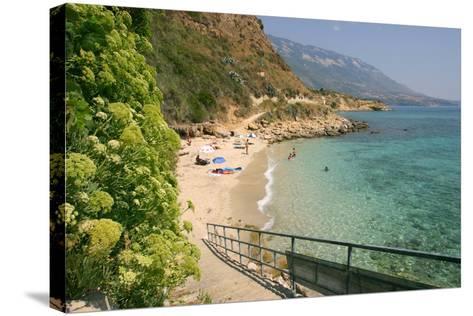 Agios Thomas Beach, Kefalonia, Greece-Peter Thompson-Stretched Canvas Print